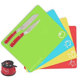 Emeril 4-Piece Assorted Color Non-stick Cutting Board Mats,
