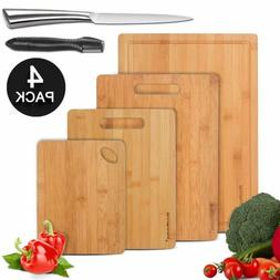 bamboo cutting board kitchen food sharpener fruit