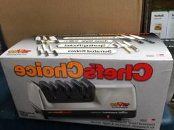 CHEFS CHOICE 1520 Knife Sharpener NEW in Box - Brushed Metal