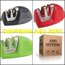 Compact Kitchen Knife Blade Sharpener Tool Edge Grip 2 Stage