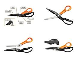 Fiskars Cuts + More Titanium All Purpose Scissors w/ Sharpen