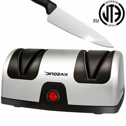 Electric Knife Sharpener, Kasonic 2-Stage 100% Diamond Coate