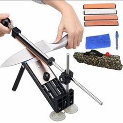 Kitchen Knife Fix-Angle Sharpener Sharpening 4 Stones Kit St