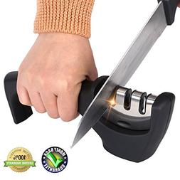 Kitchen Knife Sharpener,Knife Sharpening 3-in-1 Manual Profe