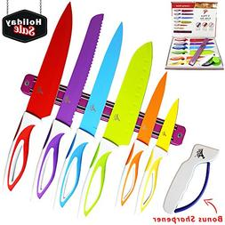 Colorful Kitchen Knife Set Sharp Cooking Cutting Knives by L