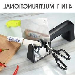 Knife Sharpener 4In1 Diamond Coated Knife Shears Scissors Sh