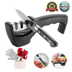 Knife Sharpener- Professional Kitchen Knife Sharpener 3 Stag
