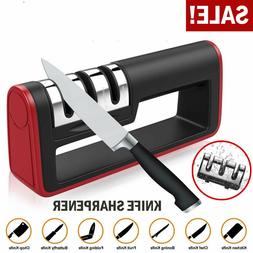 Knife Sharpener Kitchen Knives Blade Sharpening System 3 Sta