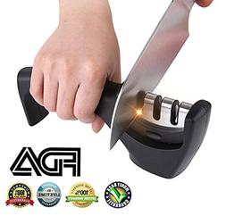 BESTBEING knife sharpener machine with handle, kitchen knife