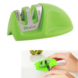 Knife Sharpener Non Slip base Edge Grip Two Stage Green