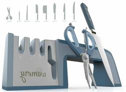Knife Sharpener and Scissors Sharpening System. Easy to use.