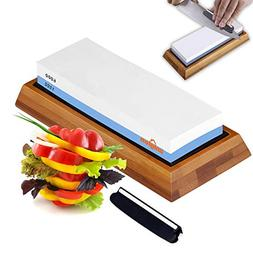 Premium Knife Sharpening Stone kit 2 Side Whetstone Set 1000