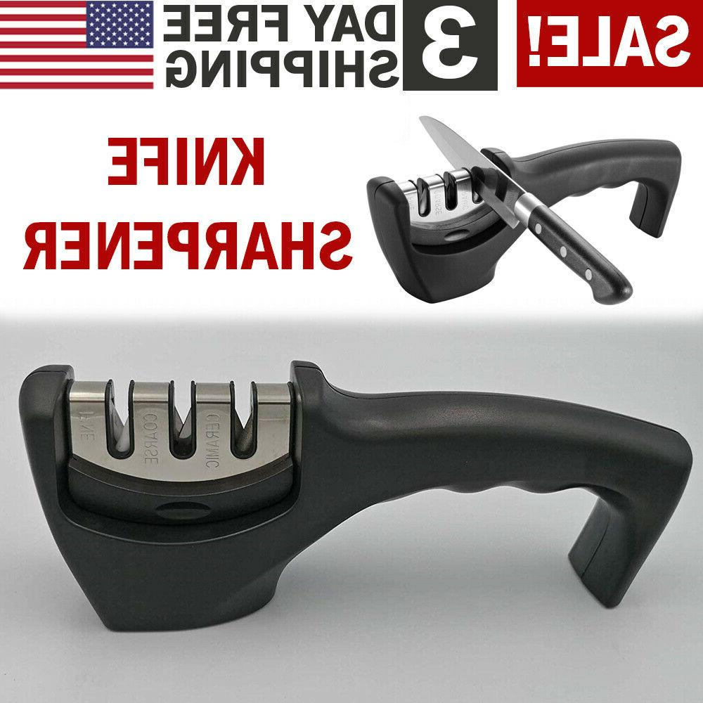 Professional Stainless Steel Pro Knife Sharpener 3 Stage for