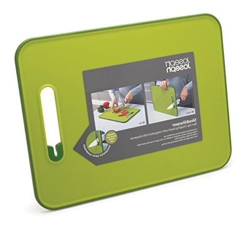 Joseph & Sharpen Cutting Board with Knife Large, Green