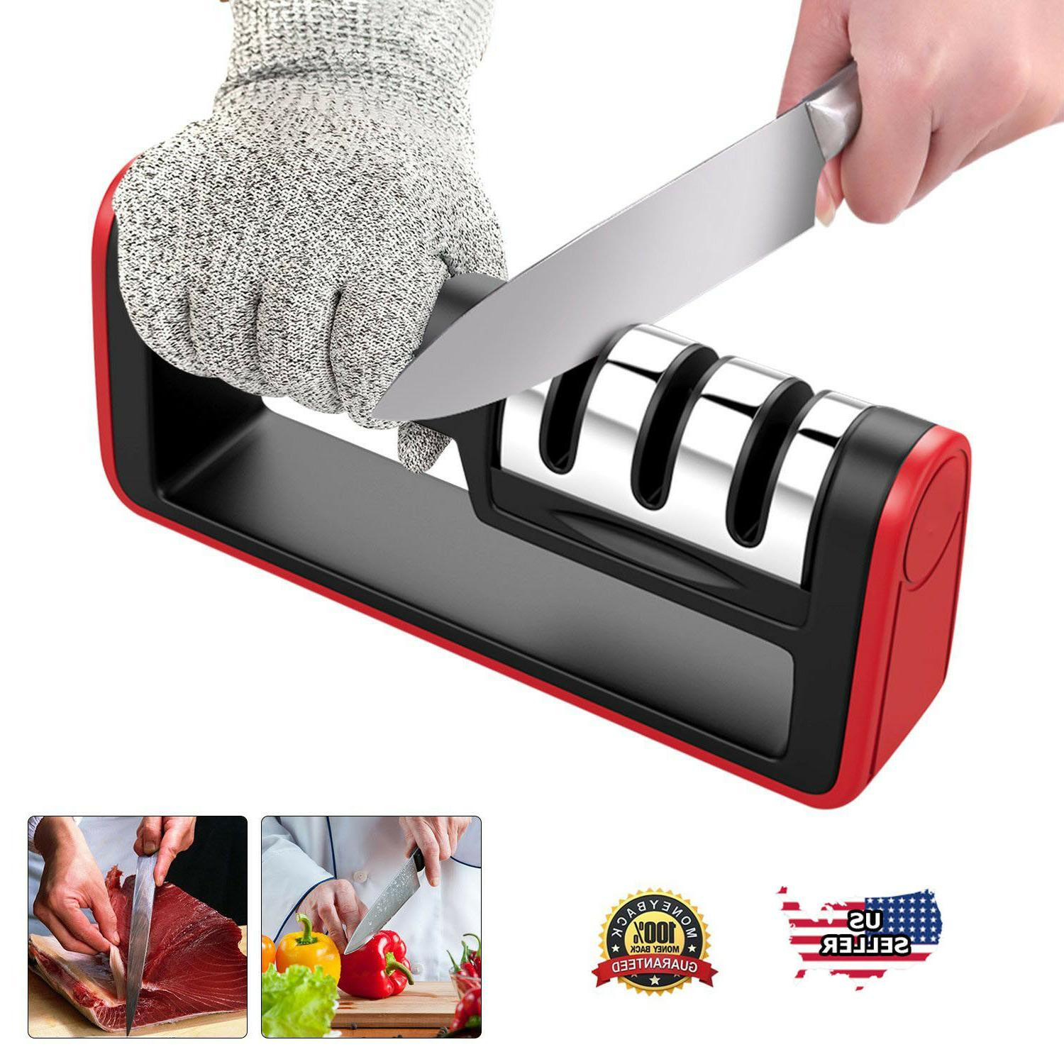 KNIFE SHARPENER Professional Ceramic Tungsten Kitchen Sharpe