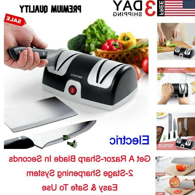 LINKYO Electric Knife Sharpener, Kitchen Knives Sharpening S