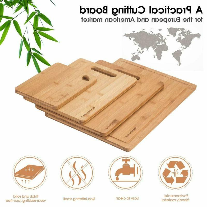 Bamboo Board Food Sharpener Fruit Knives Wood Size