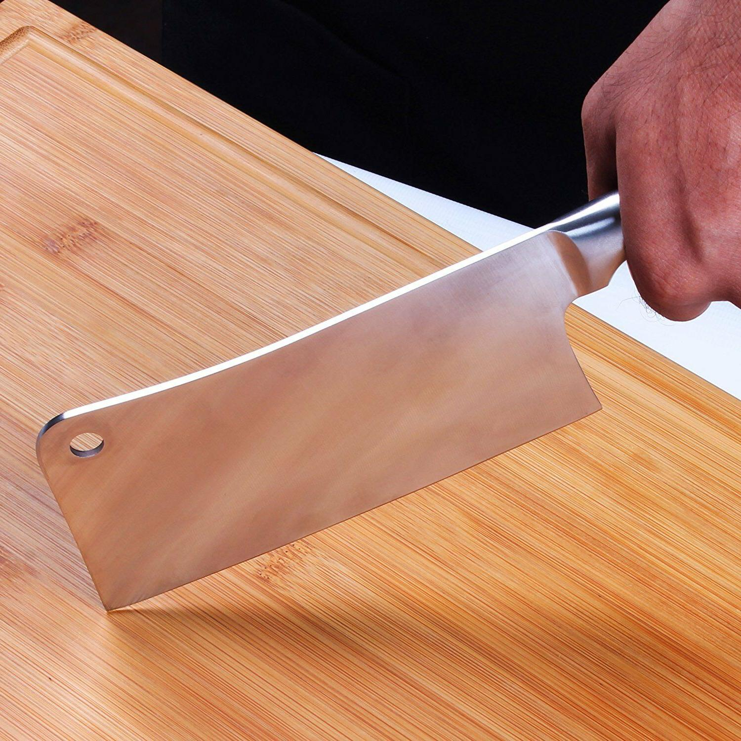 """7"""" Stainless Butcher Knife Cleaver Chopper Home Utopia"""