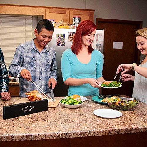 A Carving Fork Holds Turkey, Securely, Steel Won't Carve Your Dinner Like A Pro Chef