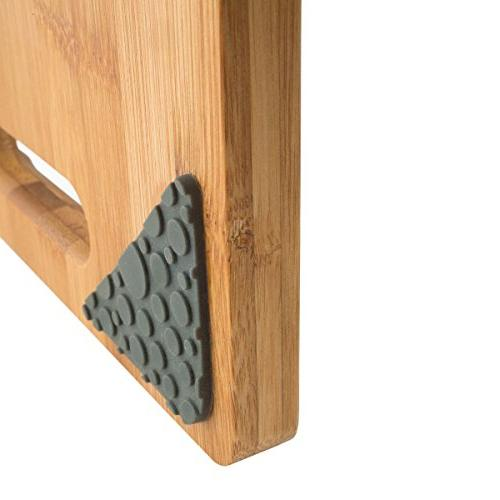 Modernhome 3 Chef's Bamboo Board with Built-In and Non-Slip