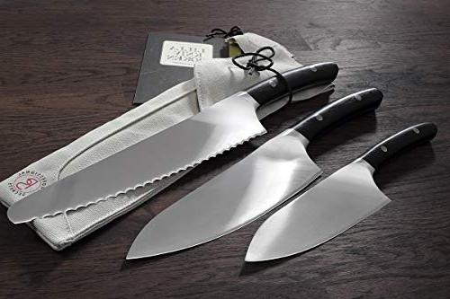 Professional Bread Knife w/Canvas Sheath Extra Serrated - cm