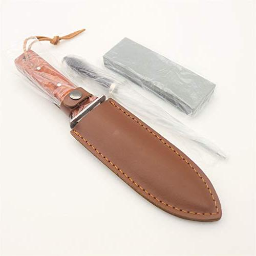 Amdokan88 Knife Leather Sheath, and Stone and Edges Camping Weeding Hori Full Tang