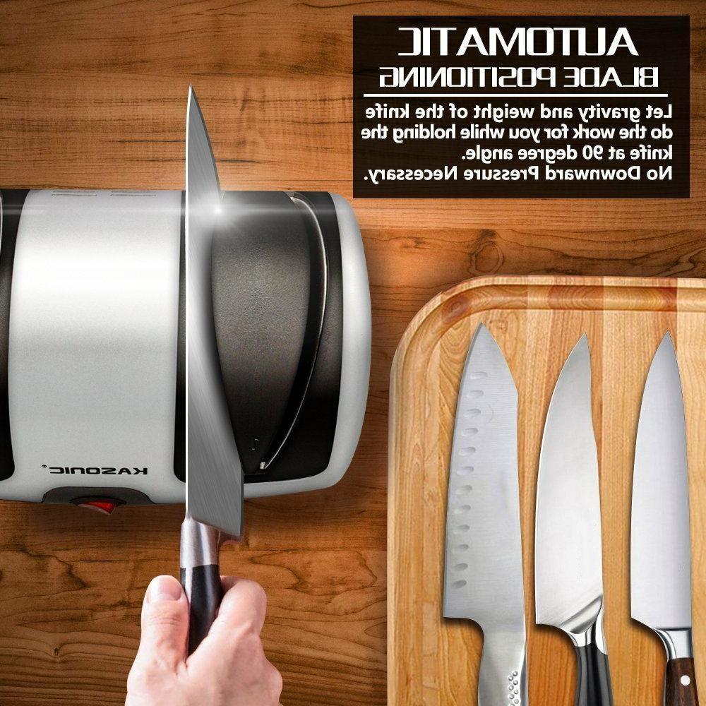 Electric Knife Sharpener, 2-Stage 100% Sharpening
