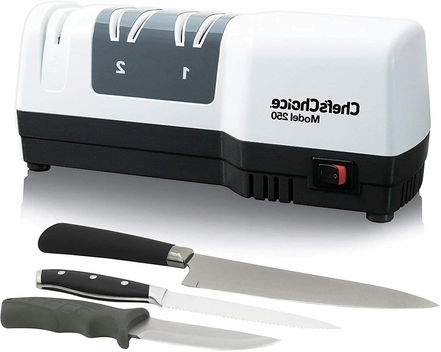 New Chef's Hybrid Hone Sharpener w/ Electric Manual