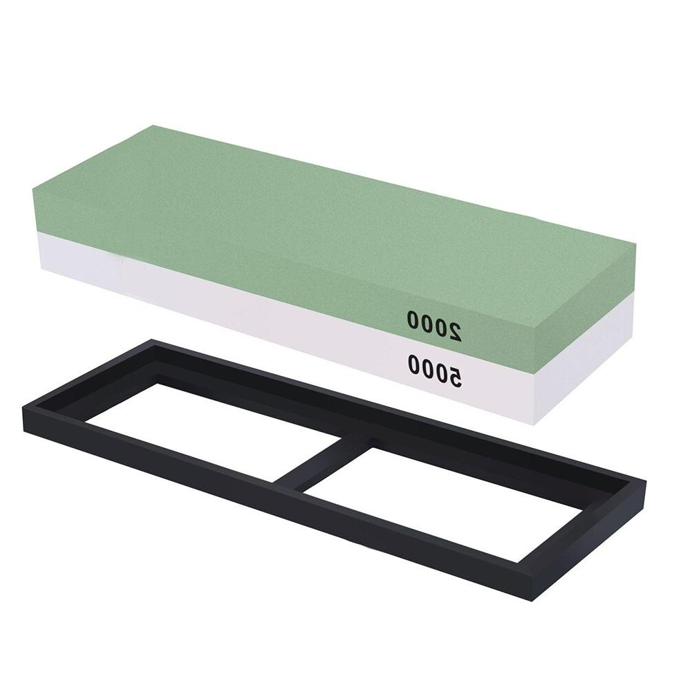 Hot sale <font><b>Knife</b></font> Sharpening <font><b>Knife</b></font> <font><b>Sharpener</b></font> Combination Waterstone Kits with Non-slip Silicone