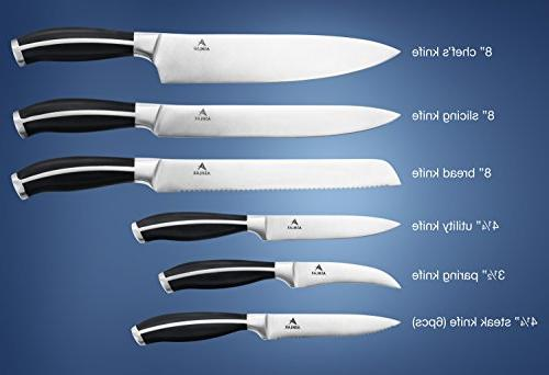 Ashlar Kitchen Set Acrylic German Quality Forged Stainless - Includes Knife & Scissors
