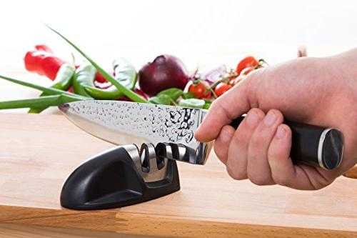Caesar Chef's Knife and - High Kitchen Knife with Ergonomic Handle dice, All with