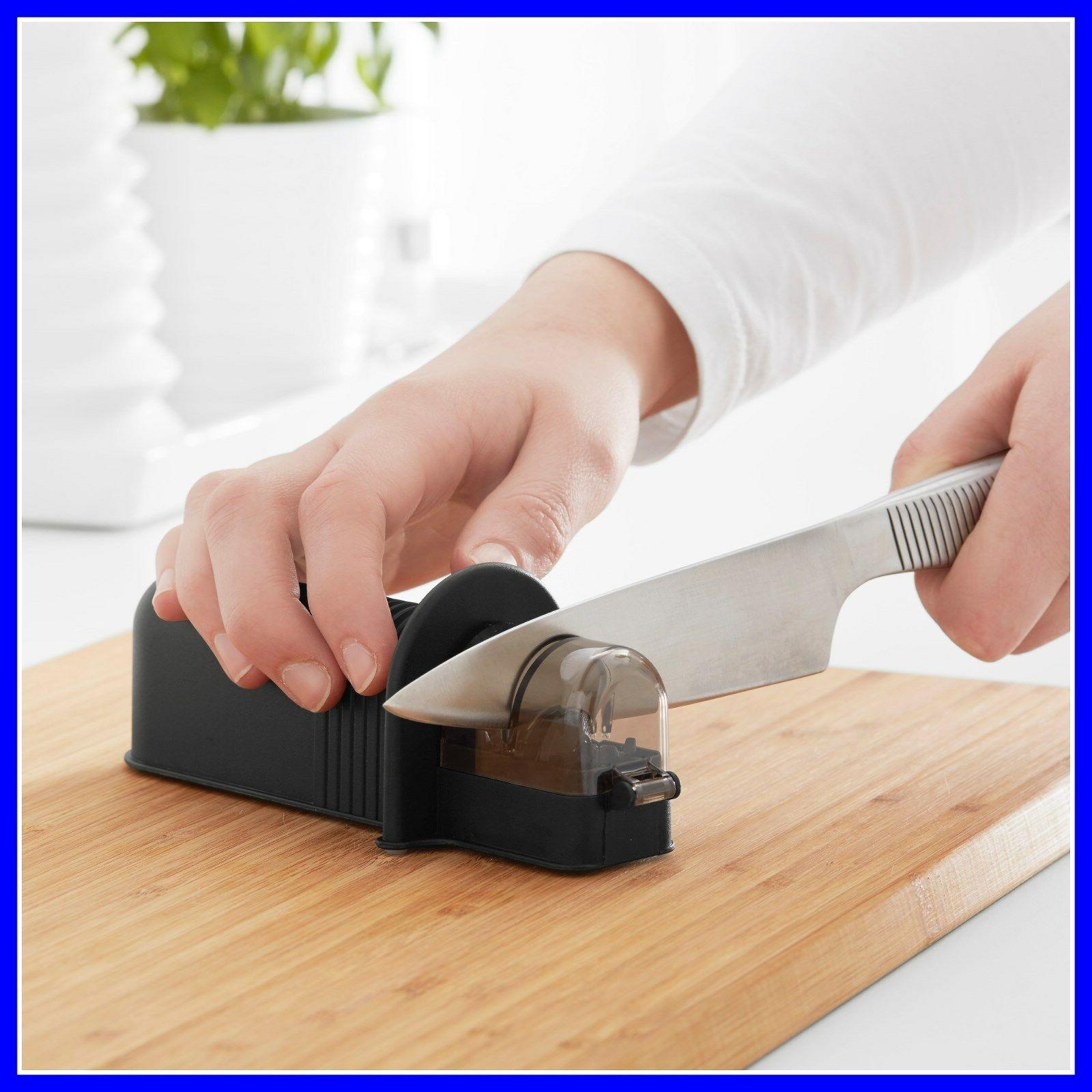 NEW 4pcs with Serrated Stainless Steel Knife Sharpener