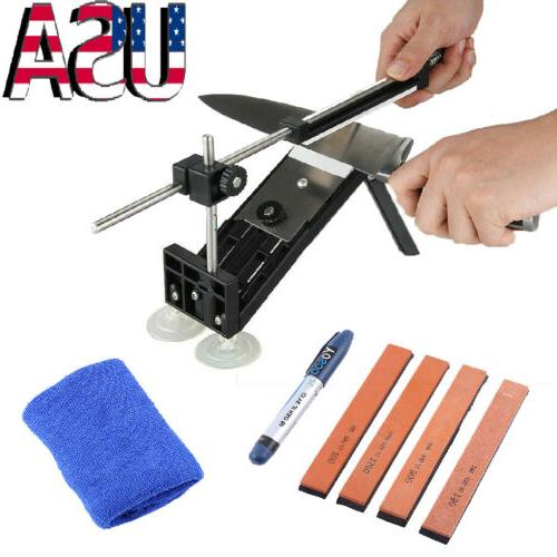 Professional Fix-Angle Style Knife Sharpening System+4 Stones