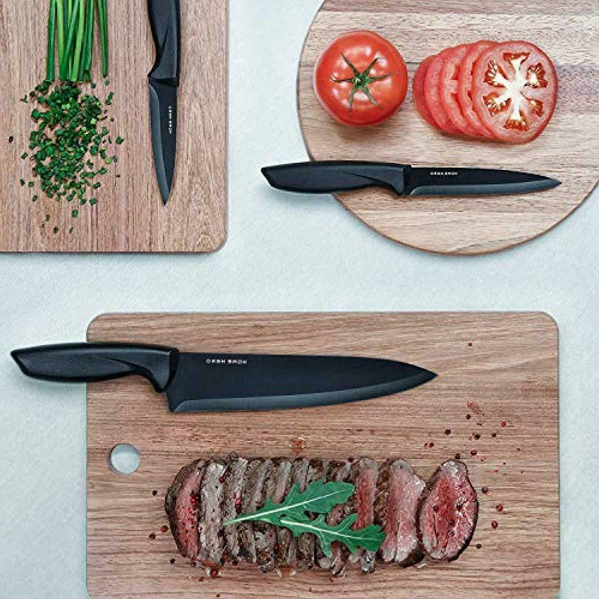 Stainles with Kitchen Knives Set with 6 Steak