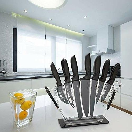 Stainles Steel with Block Knives with Sharpener 6
