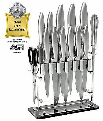 14 Piece Stainless Steel Cutlery Professional Kitchen Knife