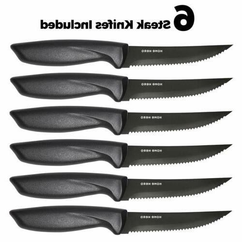 Stainless Set with Block Kitchen Chef Knife Set