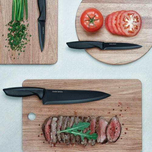 Stainless Steel Set with Block Kitchen Chef Knife