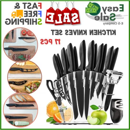 Ess Stainless Steel Knife Set With Block Kitchen Chef Sharpe