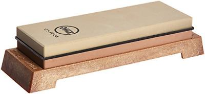 King Two Sided Sharpening Stone with Base 1000 And 6000 Comb