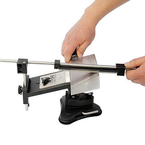 KKmoon Upgraded Fixed-angle Knife Sharpener WIth 4 Sharpening Kitchen Knife
