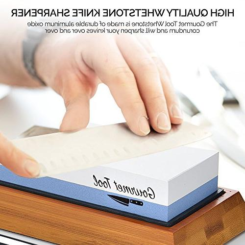 Professional Whetstone Stone 2 Grit 1000/6000 Waterstone - Japanese Sharpener Includes Non-Slip Angle Guide, and Instructions