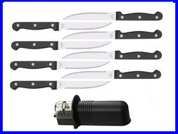 NEW 8pcs Steak Knives whit Serrated Blades Stainless Steel a