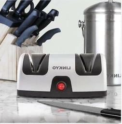 NIB LINKYO Electric Knife Sharpener, Kitchen Knives 2-STAGE