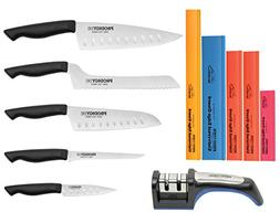 11 piece Prodigy knife set includes free 2 stage knife sharp