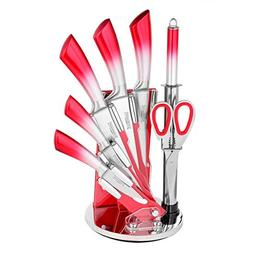 8-Piece Stainless Steel Kitchen Cutlery Knife Set with acryl