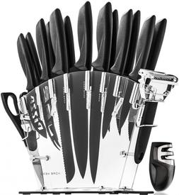 Stainless Steel Knife Set with Block - 13 Kitchen Knives Che
