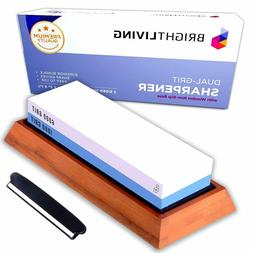 Kitchen Knife Sharpening Stone Set Dual Grit Sharpener 1000